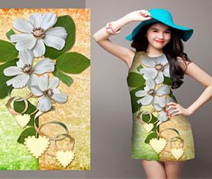 Ngọc Trinh Diện Đầm Váy Với Họa Tiết In Chuyển Nhiệt Kỹ Thuật Số Ấn Tượng